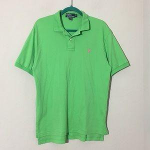 Polo Ralph Lauren Lime Green Polo Shirt Sz M